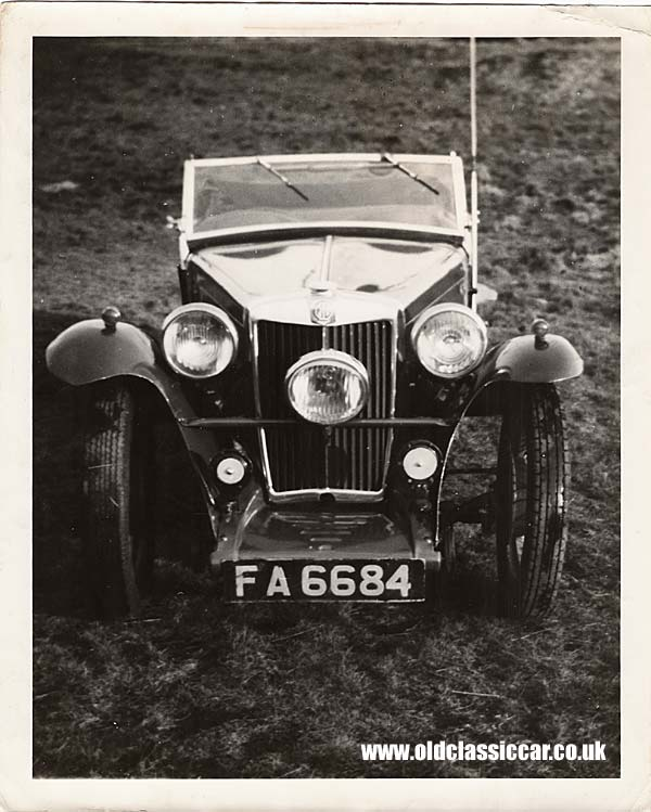 MG Sportscar from the 1940s