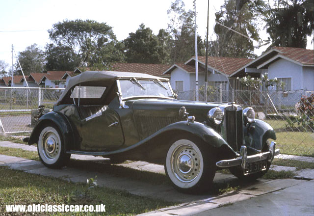 Photograph of an MG TD sportscar