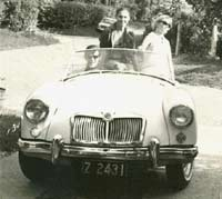 MG MGA sports car