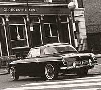 MGB Roadster in 60s London