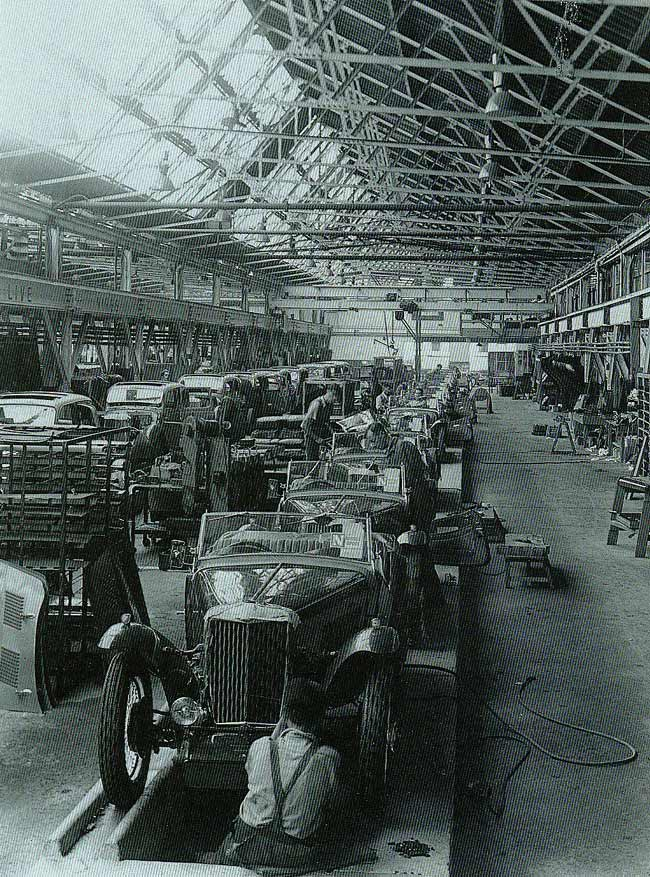 MG cars being built