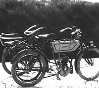 Very old motorcycle photograph