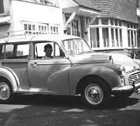 A Morris Minor estate car