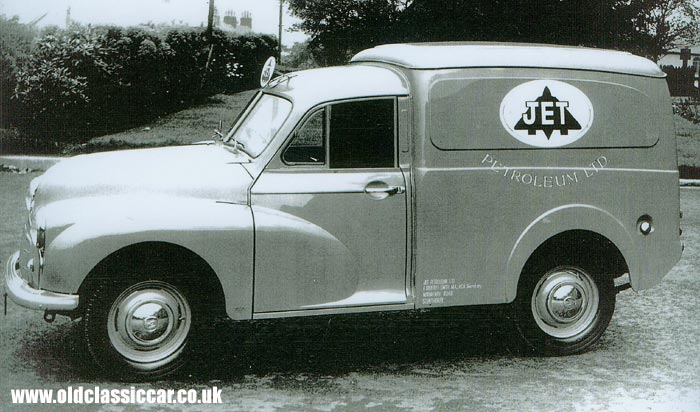 Side view of the Morris Minor van