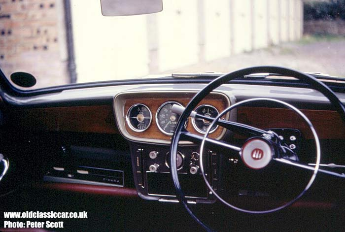View of the car's dashboard