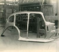 A side panel used in the build of a Hillman Minx body