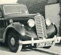 A pre-war Hillman Minx