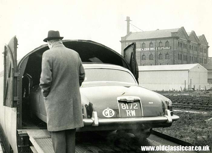 Rear view of the Mk10 Jaguar