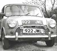 An Austin Mini car