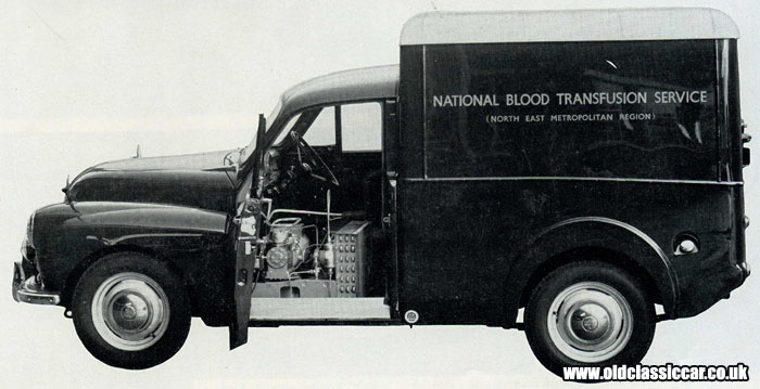 Morris Minor 6cwt blood distribution van