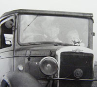 Looking into the Morris' cab