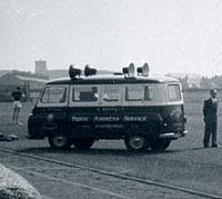 A J2 speaker van
