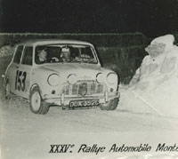 Morris Mini Minor on the Monte Carlo Rally