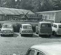Two Minis and a Spitfire - at National Motor Museum perhaps?