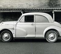 Side view of the Morris Minor