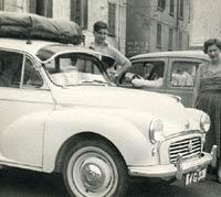 Morris Minor parked in Como