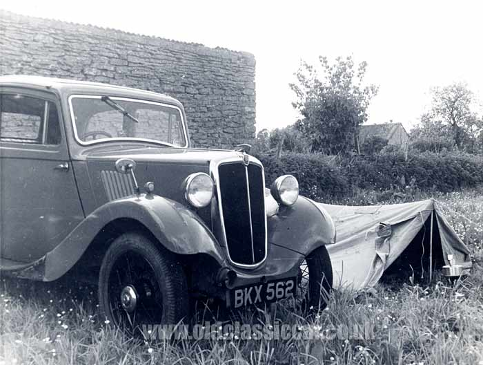 Camping with a Morris 8