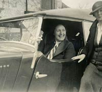Two ladies with the Morris 8