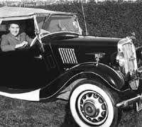 A Morris 8 tourer