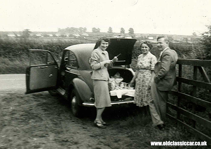 Morris Minor and a family picnic