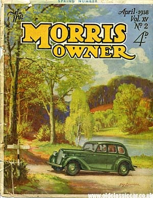 Cover of the Morris owner's magazine from 1938