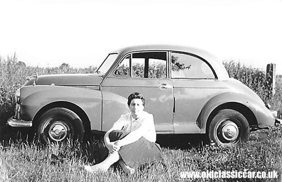 Morris Minor in a field