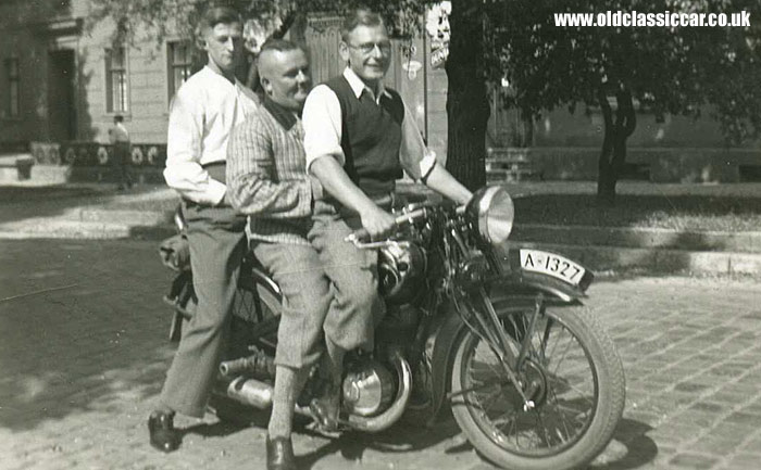An unidentified motorbike