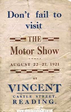 The Austin car motorshow of 1921