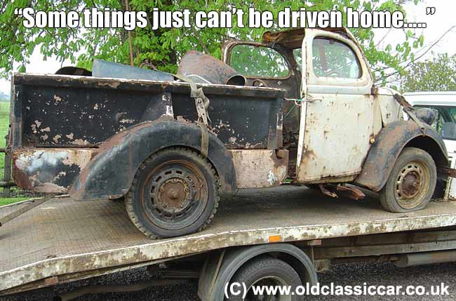 This oldie needed a professional vehicle mover!