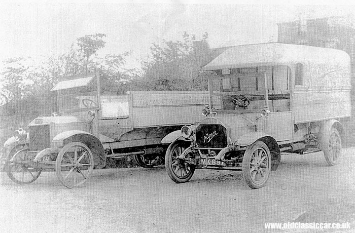 Two WW1-era Napier lorries