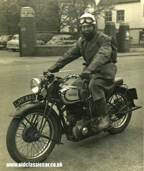 A 1950s' Norton motorcycle