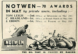 Advert for Notwen oils