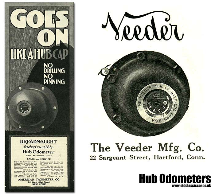 Two different hub-mounted odometers