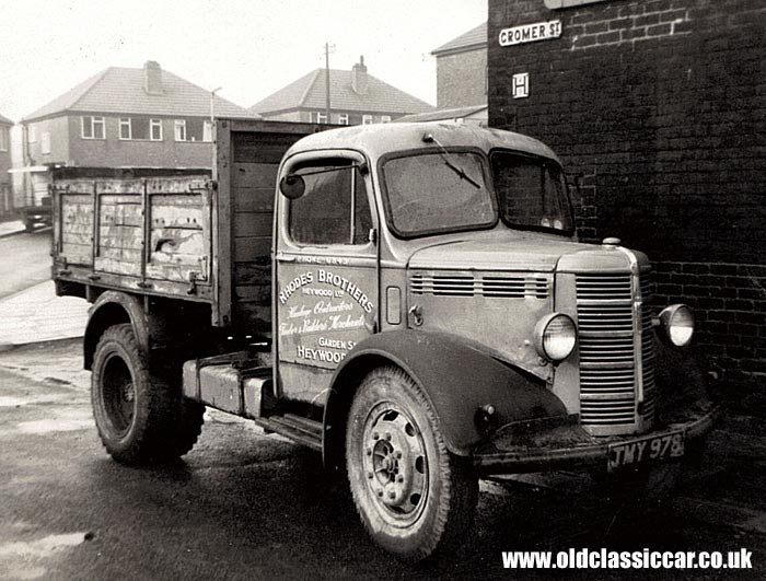 An old Bedford lorry in Manchester