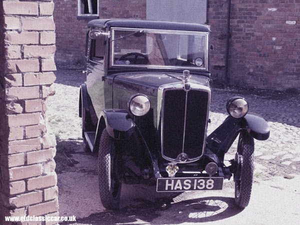 Modified photograph of a Morris car