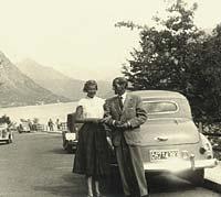 Opel Olympia convertible at Lugano