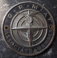 ORMA enamel car badge