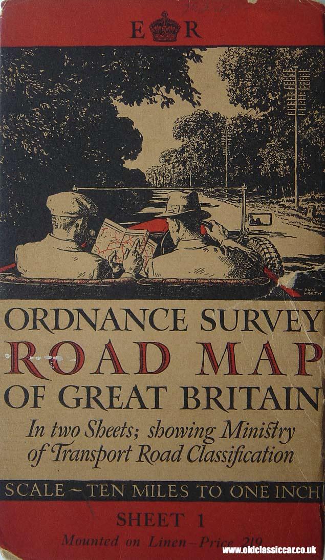 Ordnance Survey Get a Map Old Ordnance Survey Road Map of
