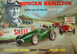 Magnetic driving game by Duncan Hamilton at Oulton Park