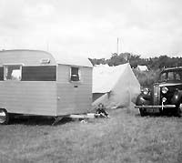 The Vauxhall and a Pemberton caravan