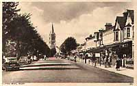 Postcard of Rugby high street