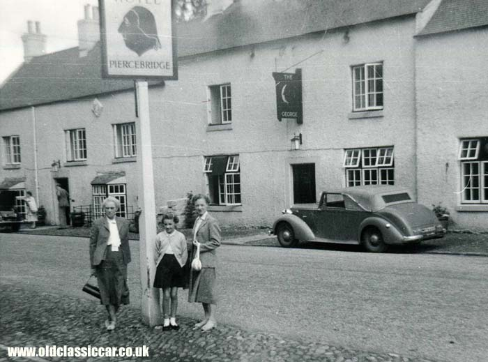 Is this an Alvis parked in Piercebridge?