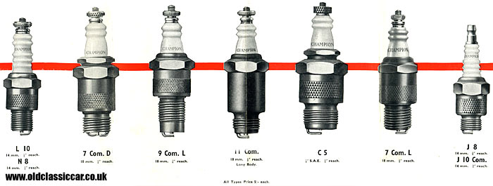 Different types of spark plugs on sale