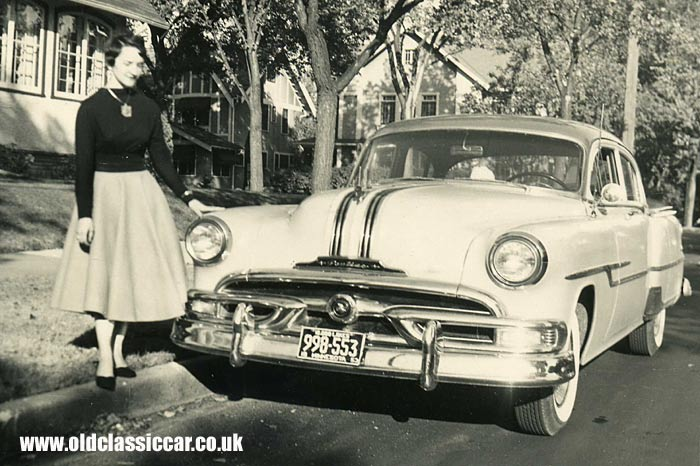 A Pontiac sedan of the early 50s