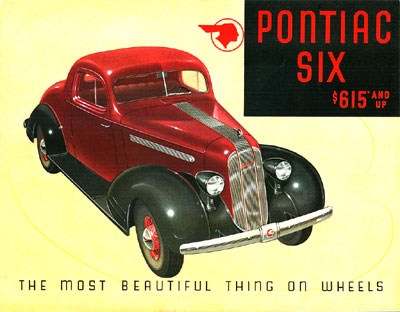 Brochure cover for the Pontiac Six of 1935