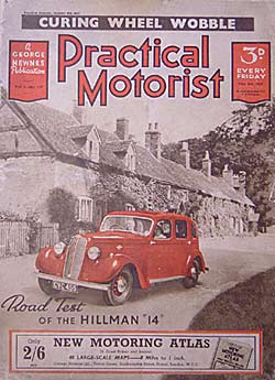 1930s Practical Motorist magazine