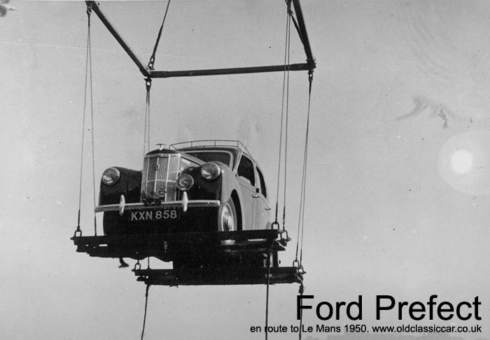 Ford gets lifted onto the ferry