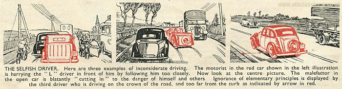 Tips on driving in this pre-war magazine