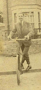 A gent with his bicycle