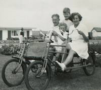 1930s quadricycle at a holiday camp